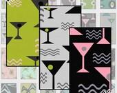 SALE - Digital Sheet,  Digital Art, Retro, Modern, Digital Clip Art, Digital Paper, Printable, 1x2 Pendant Size Mad Men Inspired, MM1-4 Rec