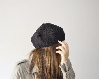 Accessories Women, black hat women, knit beret, accessories for winter, hat knit