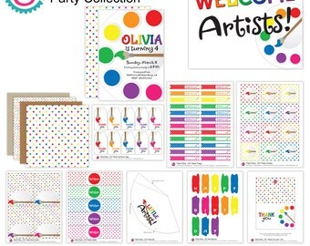 Paint Party Party Printables - Full Collection