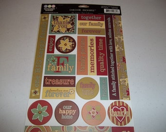 Chitchat Cotton Shop Collection Cardstock Stickers 6.5X11 by 3 Bugs in a Rug