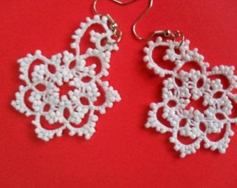 Tatted Lace Earrings - Elegant Bride