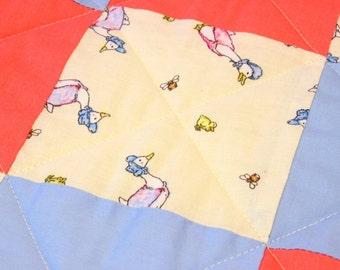 Beatrix Potter Jemima Puddleduck patchwork quilt blanket