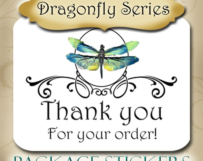 30•DRAGONFLY Series•STICKERS•Rectangle Labels•Package Labels•Custom Stickers•Custom Labels•Packaging