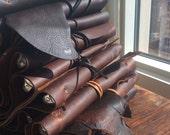 BathSt. Binder / Handmade Leather Notebook / Leather Portfolio Binder / Large Notebook / Work Folio / 3 Ring Binders / Journals & Planners