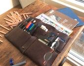 Empire iPad organizer, handmade leather case, mobile leather organizer, iPad leather sleeve, smartphone, tech gadgets & mobile accessories