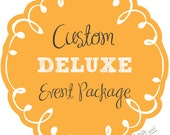 DELUXE PARTY PACKAGE - custom decorations made to order - you choose the theme & colors