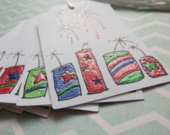 Fourth of July - Fireworks- TNT - Gift/ Hang Tags (8)