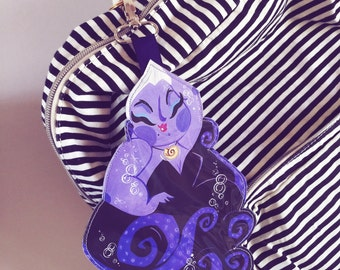 Sea Witch Theme Park Ticket Holder - key chain -lanyard