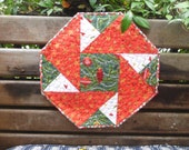 Christmas origami table topper
