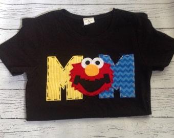 Mom, Elmo birthday shirt // one // 1 // girl boy t shirt,