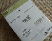 UnMounted BN Simply Wonderful  Wood Stamps - SAB