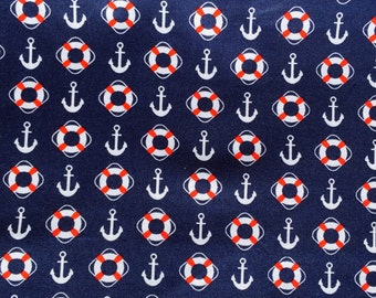 Nautical cotton fabric - by the half metre