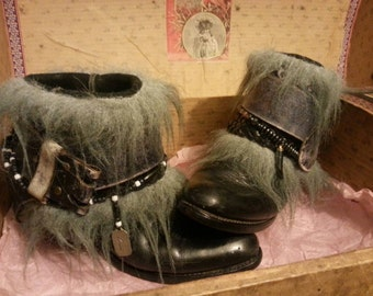 Upcycled reworked vintage cowgirl boots