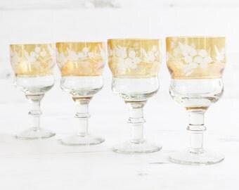 Vintage Drinking Glasses - Orange Large Glassware Kitchenware Barware Collection