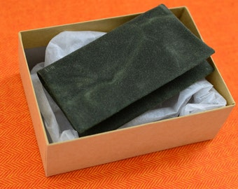 Waxed Canvas Wallet in Army Green - mens card holder billfold army green gift card holder small wallet money envelope