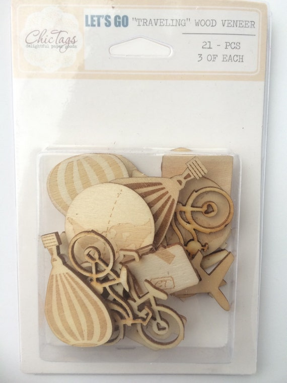 Chic Tags Traveling Wood Veneer