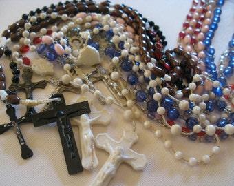 SALE Set of Eight Vintage Rosaries