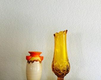 Vintage Czechoslovakian Pottery Vase