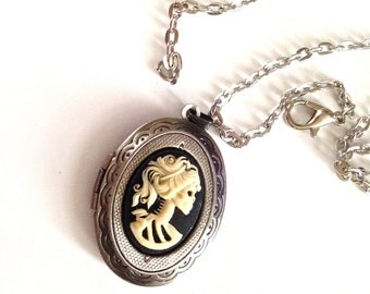 Lady Lolita Cameo Locket Necklace