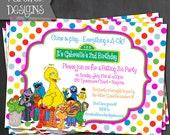Printable Sesame Street Birthday Invite - Digital File ONLY