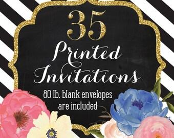 Invitation Printing - Set of 35 - 5x7