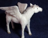 Needle Felted flying Horse, Pegasus, Fantasy one of a kind