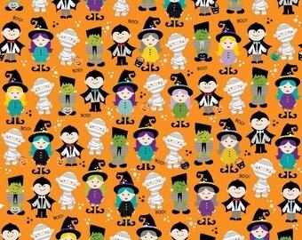 Riley Blake Halloween Parade Orange