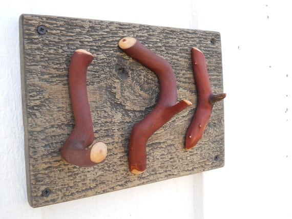 Items Similar To Rustic Twig Home Decor Wall Hook On Etsy
