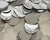 50 Large Brushed Aluminum Round Blanks Discs Tags Circles