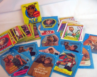 ALF Trading Cards Series 1 Complete Set - 1987 TOPPS every card w/ wrapper, stickers cat loving ALIEN Awesome fun instant collection