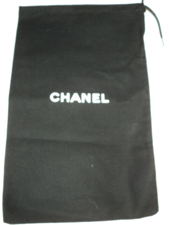 authentic chanel reclaimed jewelry dust bag duster small shoe