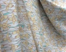 Calla Lilies Vintage Polyester Silky Fabric - retro fabric, 1970s fabric, light weight fabric, lily fabric, spring fabric, floral fabric