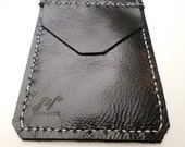 Sale Black Leather Pocket Protector sleeve small