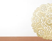 gold and silver metallic doilies set of 10