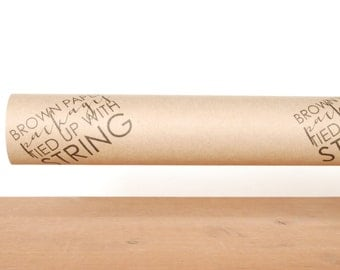 gift wrapping paper: kraft gift wrap, brown wrapping paper, brown paper packages tied up with string