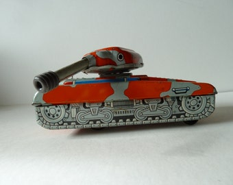 Vintage toy tank car made in China