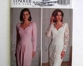 Butterick 5320 Kathryn Conover Vintage Dress Pattern Size 14, 16, 18 Copyright 1991
