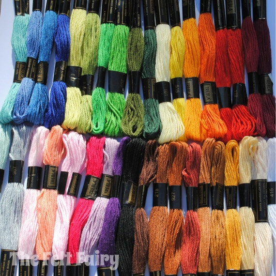Embroidery Thread - 36 skeins