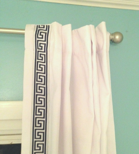 Great Greek Key Trim Curtains