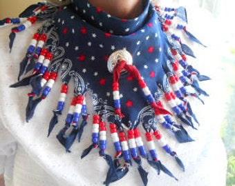 Bandanas, Neck Scarf, Americana III, Wearable Art, Western Wear