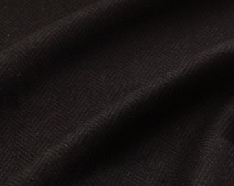 wide wool fabric 1yard (56 x 36 inches) 65243 deep black