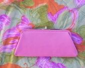 Hot pink purse clutch MOD 60's
