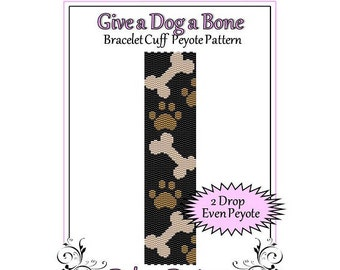 Bead Pattern Peyote(Bracelet Cuff)-Give a Dog a Bone