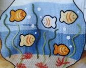 Fish Bowl Baby Blanket, Lap Blanket, Nemo Baby Blanket, Aquarium Blanket