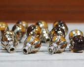 15 Vintage lamp finials or Marble glass knobs