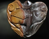 49x50x15mm ~Exquisite Animal Totems~Madagascar POLYCHROME JASPER Flying Angel Pig Large Carved 3d Focal Pendant - P0890