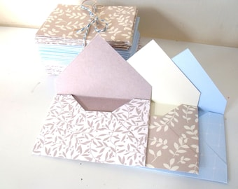 Mini Envelopes Gift Card Size Handmade from Designer Cardstock 50 Pieces