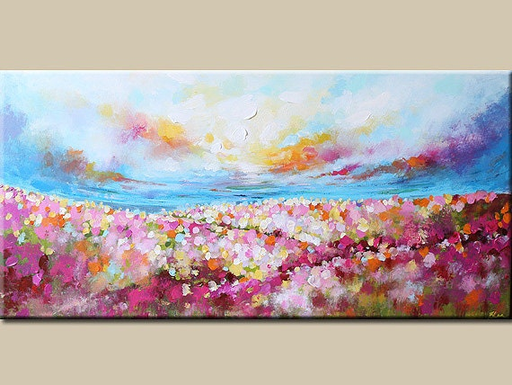 landscape painting abstract paintingflower painting