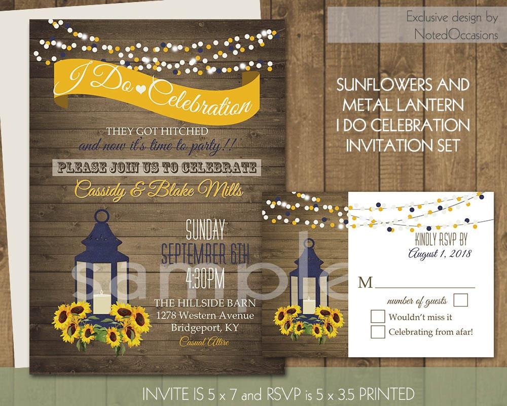 Wedding Reception Invite: I Do BBQ Wedding Reception Invitation By NotedOccasions On