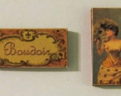 Dollhouse Miniature, Sign, Picture, Accessories, Shabby, Paris, Ladies, Room box, Victorian, Tea Party, Mid-Century, Paper Dolls, Sewing